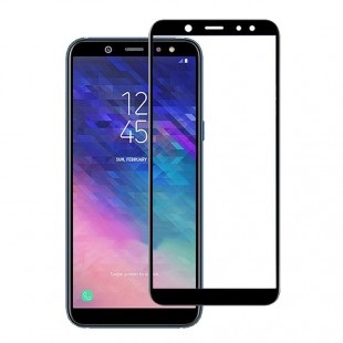 محافظ LCD شیشه ای فول چسب Full Glass Screen Protector.Guard Samsung Galaxy A6 Plus 2018