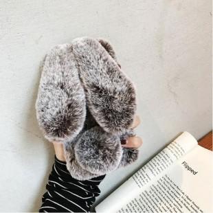قاب ژله ای خرگوشی خزدار نوکیا Rabbit Fur Case Nokia 2.1