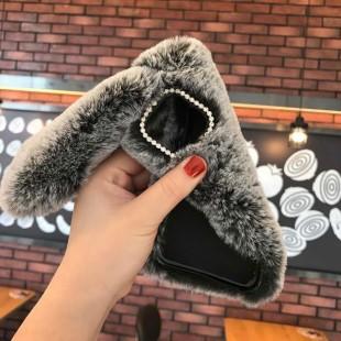 قاب ژله ای خرگوشی خزدار هواوی Rabbit Fur Case Huawei Honor 9x Pro