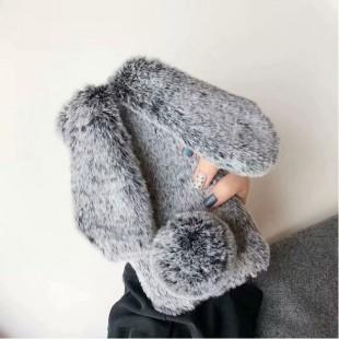 قاب ژله ای خرگوشی خزدار هواوی Rabbit Fur Case Huawei Mate 30