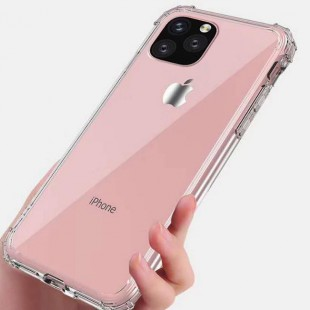 قاب ژله ای پشت طلقی اپل TPU Glass Case Apple iPhone 11 Pro Max