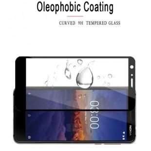 فول گلس تمام چسب گوشی نوکیا Full Glass Nokia 3.1
