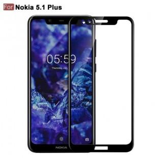 فول گلس تمام چسب گوشی نوکیا Full Glass Nokia 5.1 Plus