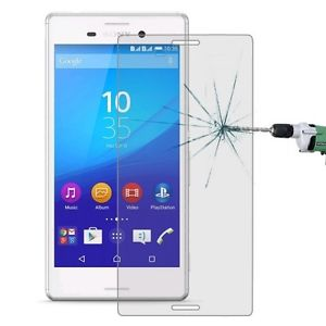 محافظ LCD شیشه ای Glass Screen Protector.Guard for Sony Xperia M4