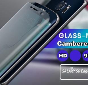 محافظ LCD شیشه ای Glass برچسب شیشه ای ضدضربه مخصوص با پوشش منحنی های دو طرف Samsung Galaxy S6 Edge