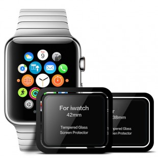 گلس تمام چسب با پوشش منحنی اپل واچ Full Glass Apple Watch 38mm