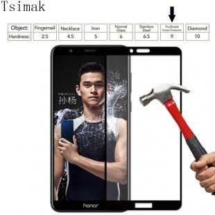 محافظ LCD شیشه ای فول چسب Full Glass Full Glues Screen Protector.Guard Huawei Honor 7x