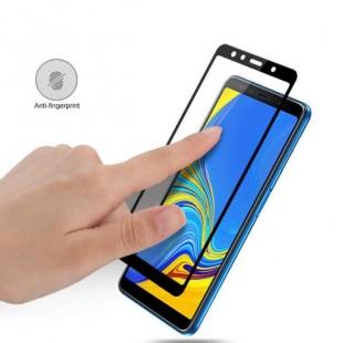 فول گلس فول چسب سامسونگ Full Glass Samsung Galaxy A7 2018