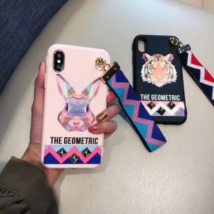 قاب ژله ای بند دار Animal Band Case Apple iPhone X