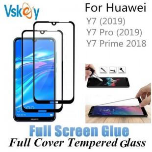 فول گلس تمام چسب گوشی هواوی Full Glass Huawei Y7 2019
