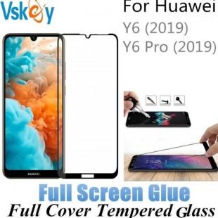 فول گلس تمام چسب گوشی هواوی Full Glass Huawei Y6 Pro 2019