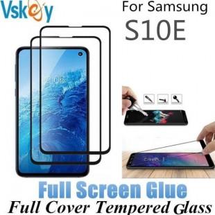 فول گلس تمام چسب گوشی سامسونگ Full Glass Samsung Galaxy S10e