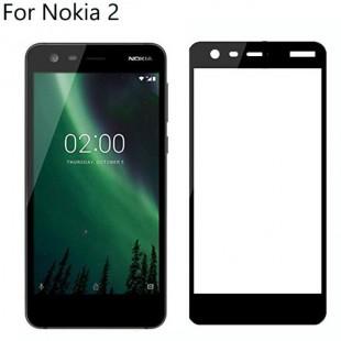 فول گلس تمام چسب گوشی نوکیا Full Glass Nokia 2