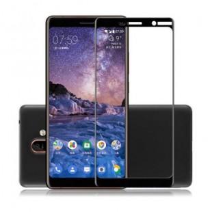 فول گلس تمام چسب گوشی نوکیا Full Glass Nokia 3.1 Plus