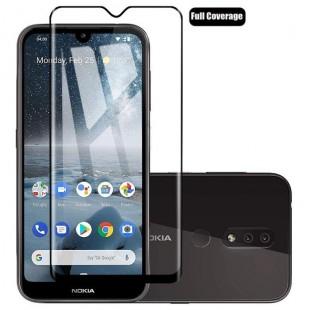 فول گلس تمام چسب گوشی نوکیا Full Glass Nokia 4