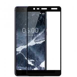 فول گلس تمام چسب گوشی نوکیا Full Glass Nokia 5.1