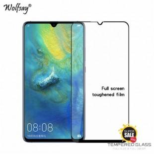 فول گلس تمام چسب گوشی هواوی Full Glass Huawei Mate 20