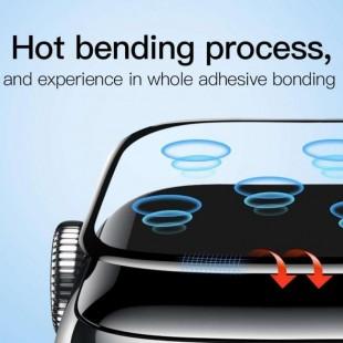 فول گلس شیشه ای قابل انعطاف Full Screen Curved Tempered Glass Film Apple Watch 44mm