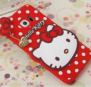 قاب ژله ای عروسکی هلوکیتی Hello Kitty Case for Samsung Galaxy S6 Edge