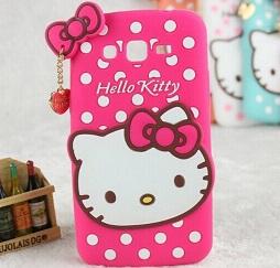 قاب ژله ای عروسکی هلوکیتی Hello Kitty Case for Samsung Galaxy S2