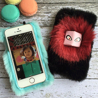 قاب پشمی Fendi Case for Apple iPhone SE