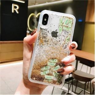 قاب آکواریومی طرح دلار آیفون Liquid Dollar Case Apple iPhone Xr