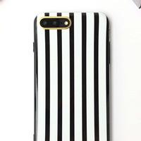 قاب ژله ای Luxury Black White Case For iPhone 6 Plus