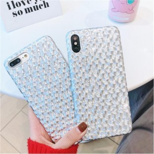 قاب ژله ای براق نقره ای آیفون Silver Bright Case iPhone Xs Max