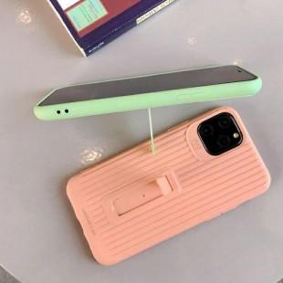 قاب رنگی طرح چمدونی با قابلیت استند شدن آیفون Stand Silicon Case iPhone 11 Pro Max