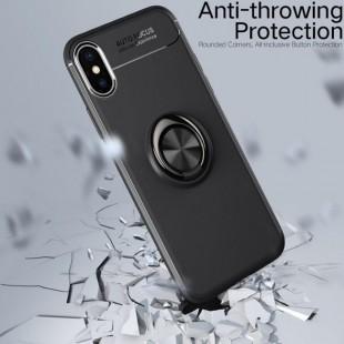 قاب ژله ای طرح چرم انگشتی Magnet Ring Case Apple iPhone XS Max