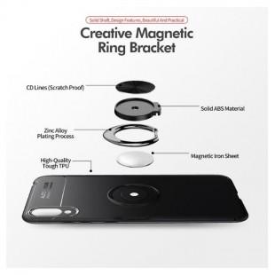 قاب ژله ای طرح چرم انگشتی Magnet Ring Case Huawei Y7 Pro 2019
