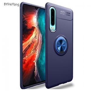 قاب ژله ای طرح چرم انگشتی Magnet Ring Case Huawei p30