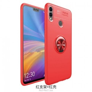 قاب ژله ای طرح چرم انگشتی Magnet Ring Case Huawei Honor 8X