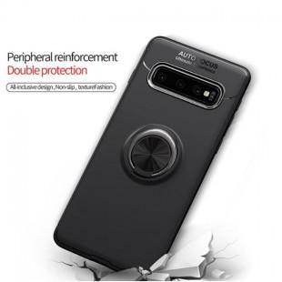 قاب ژله ای طرح چرم انگشتی Magnet Ring Case Samsung Galaxy S10