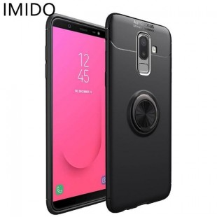 قاب ژله ای طرح چرم Magnet Ring Case Samsung Galaxy J8 2018