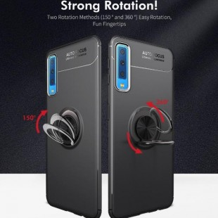 قاب ژله ای طرح چرم Magnet Ring Case Samsung Galaxy A7 2018