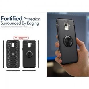 قاب ژله ای طرح چرم انگشتی Magnet Ring Case Samsung Galaxy J6