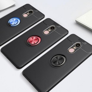 قاب ژله ای طرح چرم Magnet Ring Case Xiaomi Redmi Note 4X