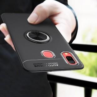 قاب ژله ای طرح چرم انگشتی Magnet Ring Case Samsung Galaxy A40