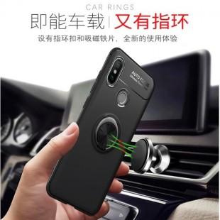 قاب ژله ای طرح چرم انگشتی Magnet Ring Case Xiaomi Mi 8