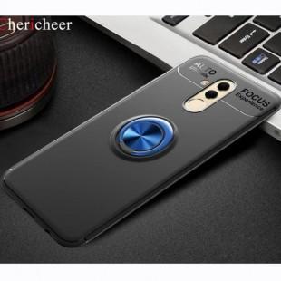 قاب ژله ای طرح چرم انگشتی Magnet Ring Case Huawei Mate 20 Lite