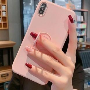 قاب ژله ای رنگی با هولدر انگشتی آیفون Color Ring Case iPhone XS Max