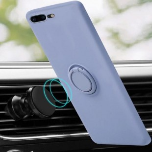 قاب ژله ای رنگی با هولدر انگشتی آیفون Color Ring Case iPhone X