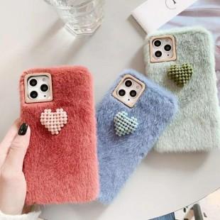 قاب خزدار قلب برجسته آیفون Woolly Little Heart Case iPhone 6
