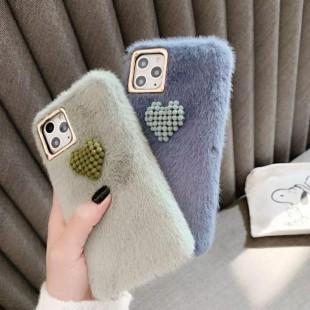 قاب خزدار قلب برجسته آیفون Woolly Little Heart Case iPhone 6 Plus