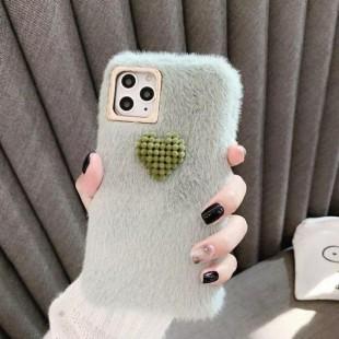 قاب خزدار قلب برجسته آیفون Woolly Little Heart Case iPhone 7