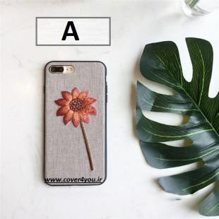 قاب ژله ای پارچه ای Dot Rose Case Apple iPhone X