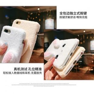 قاب خرگوشی پشمی Rabbit Pink Color Case iPhone X/Xs