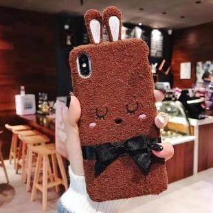 قاب پشمی خرگوشی پاپیون دار آیفون Rabbit Papion Case iPhone Xs Max