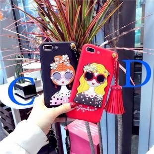 قاب ژله ای Hello Lady Sun Glass Case Samsung Galaxy A3 2017